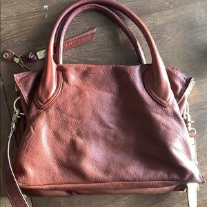 Foley + Corinna brown leather satchel purse